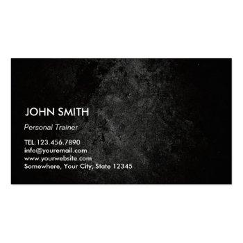 Small Fitness Trainer Perfect Body Professional Grunge Business Card Back View