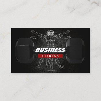 fitness trainer perfect body professional grunge business card
