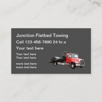 flatbed towing wrecker business cards