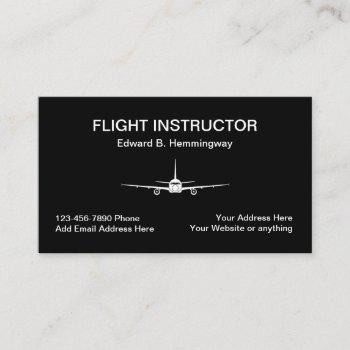 flight instructor theme business card