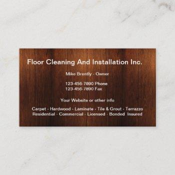 floor cleaning and installation business card