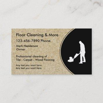 floor cleaning service business card