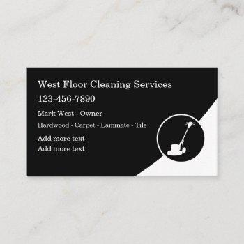 floor cleaning services modern business card