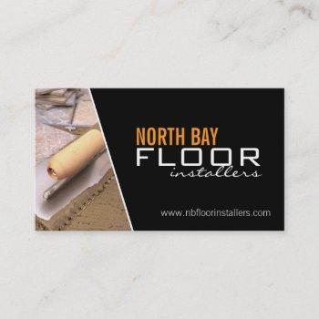 floor installers business cards