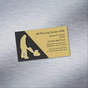 flooring and floor cleaning business card magnet