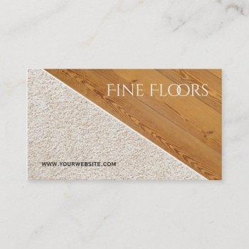 flooring installation construction business business card
