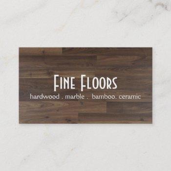 flooring installation hardwood marble construction business card