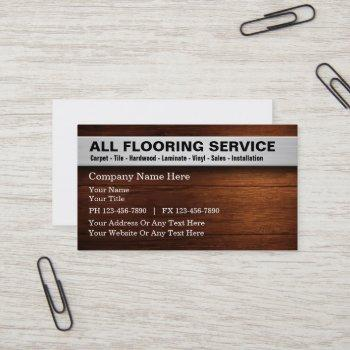 flooring services business card