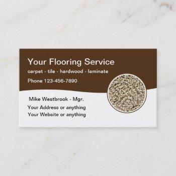 flooring services modern business cards