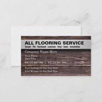 flooring services wood look art background business card