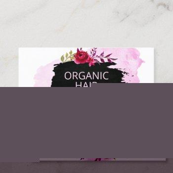 floral chalkboard handmade natural hair products business card
