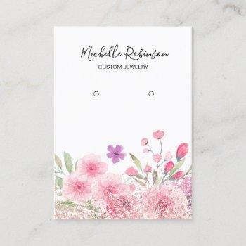 floral display in pastel colors business card