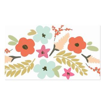 Small Floral Spray Bottle House Cleaning Logo Business Business Card Back View