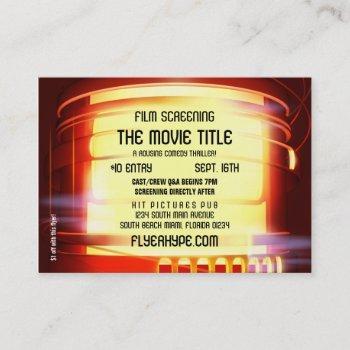 flyer hype film noir marquee cinema film screening business card