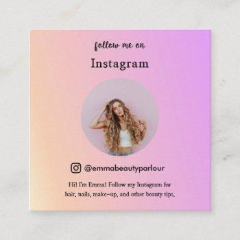 follow me instagram business/personal trendy calling card