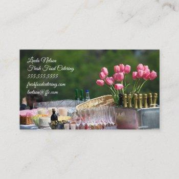 food and event catering - special events business card