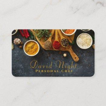food design personal chef catering business card