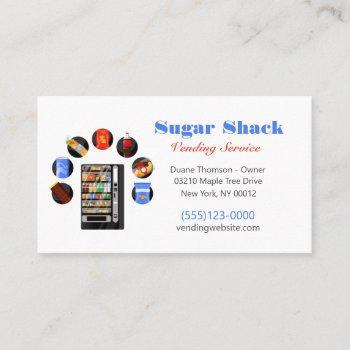 food snack vendor vending machine business card