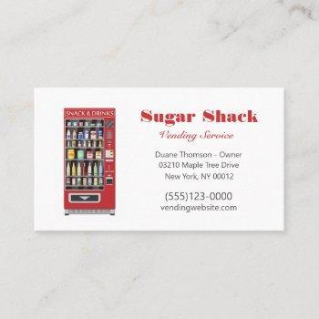 food snack vendor vending machine service  business card