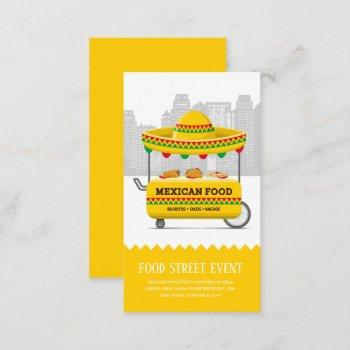 food street mexican food business card