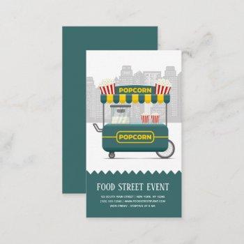 food street popcorn snack business card