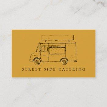 food truck rustic mustard business cards