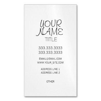 freehand simple plain magnetic business card