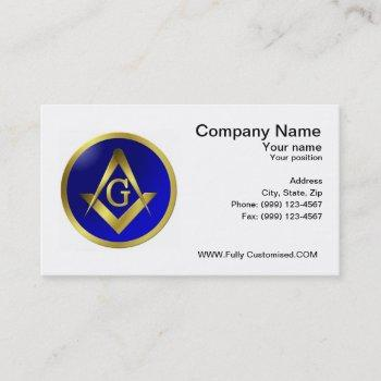 freemason business card