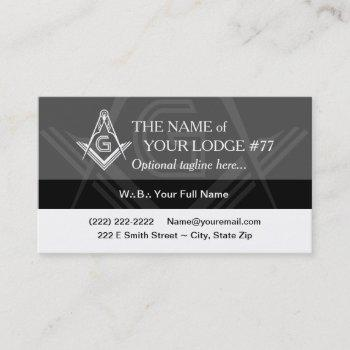 freemasonry business cards - custom masonic modern