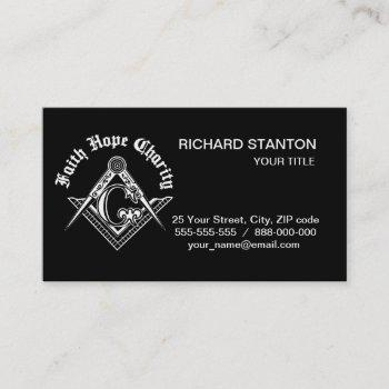 freemasonry symbol business card
