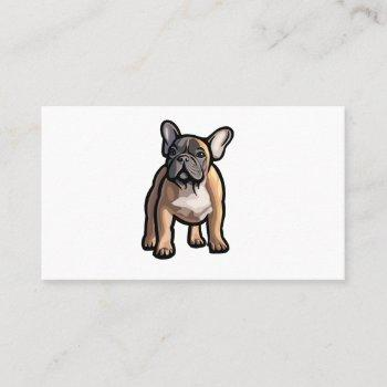french bulldog pet sitter business cards