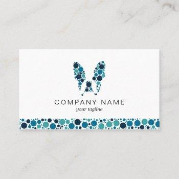 french bulldog with blue circles business card
