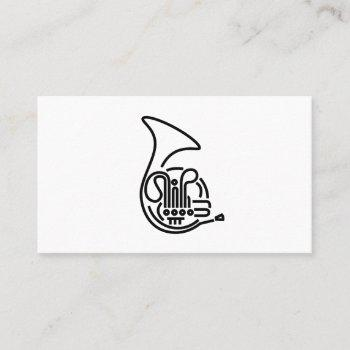 french horn business cards