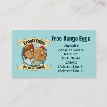 fresh eggs business cards