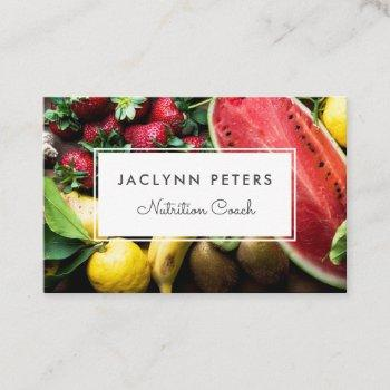 fresh fruit health field business card
