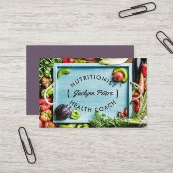 fresh vegetables business card | tray