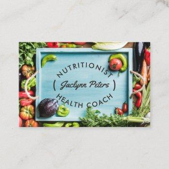 fresh vegetables health business card | tray