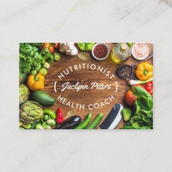 fresh vegetables health field business card