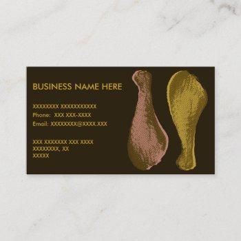 fried chicken legs business card
