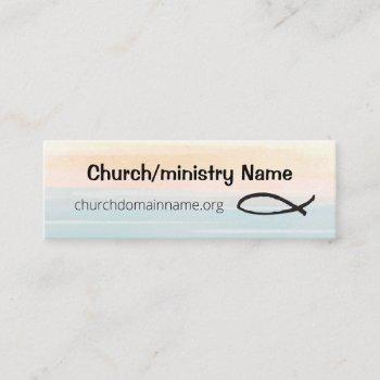 friendly mini business card for church or ministry