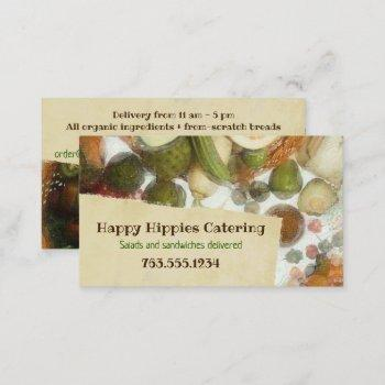 fruit vegetable vegan healthy food business card