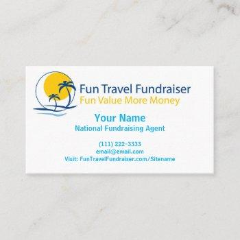 fun travel fundraiser approved business card