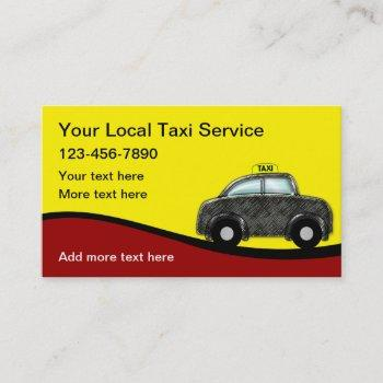 fun trendy taxi business cards