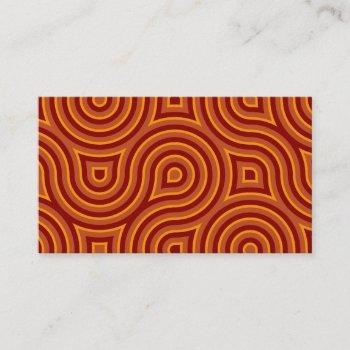funky wild circle seamless pattern orange business card