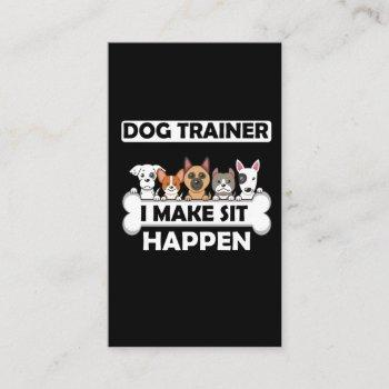 funny dog trainer humor puppy education business card