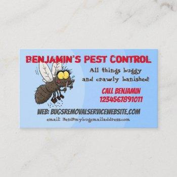 funny fly cartoon pest control business business card