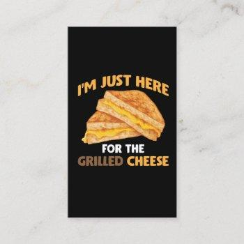 funny food lover foodie grilled cheese sandwich business card