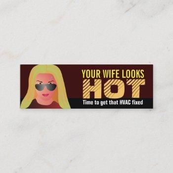 funny hvac business cards