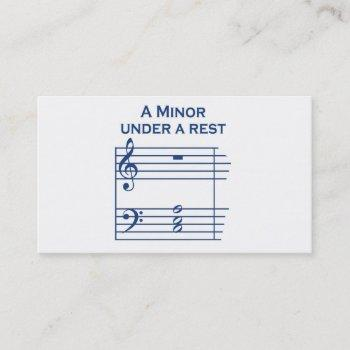 funny music a minor business card