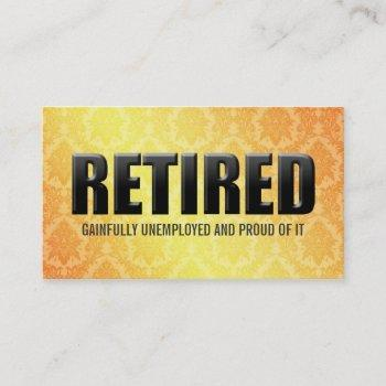 funny retirement business cards